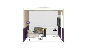 Steelcase Room Wizard, Orangebox Air3, Bolia Posea Table, m.a.d. Circa Lounge, m.a.d. Roto Stool, West Elm Linear C Table
