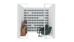 Steelcase RoomWizard, Coalesse Free Stand, Wendelbo Mango chair, Bolia Vitro Table