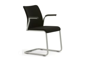 Reply Sled Base Chair - Upholstered Back and Seat