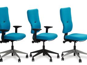 silla de trabajo con respaldo alto o con respaldo estándar