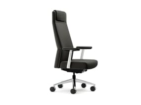 Siento High Back Office Chair with T-arms and headrest