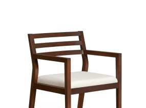 Sawyer Guest Chair with White Cushion