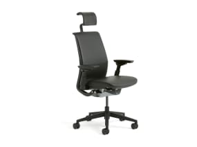 Black Think Office Chair with Headrest