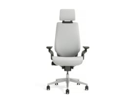 White Gesture office chair with Headrest