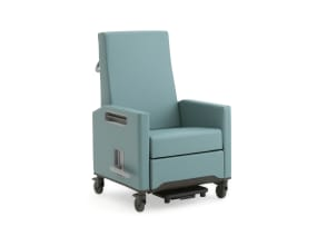 on white image of an empath chair with armrest