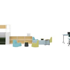 Steelcase Flex Active Frames, Steelcase Flex Mobile Power, Steelcase Turnstone Shortcut, Orangebox Border, Orangebox Away from the Desk, Orangebox Hep Table, Smith System Soft Rocker, Smith System Elemental Nest & Fold Table