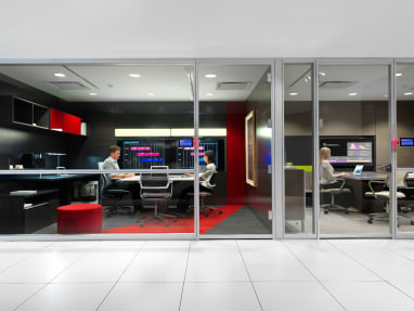 Two meeting rooms with VIA Privacy Walls