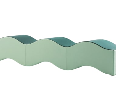 Two-Tone Green Ripple Bench