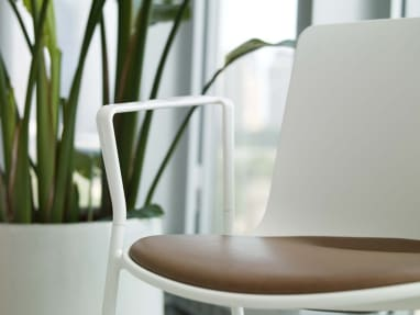 Enea Lottus Chair with Brown Seat