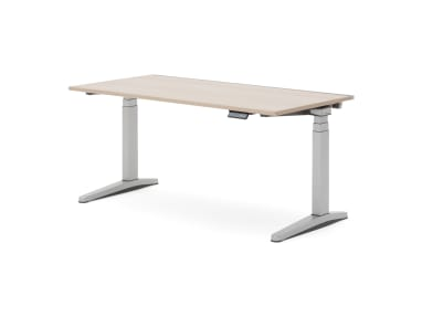 Ology Height-Adjustable Desk with wood finish top