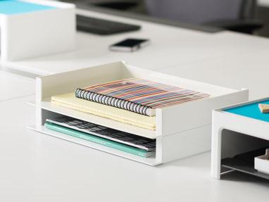 SOTO Landscape Letter Box Stacked on a desk