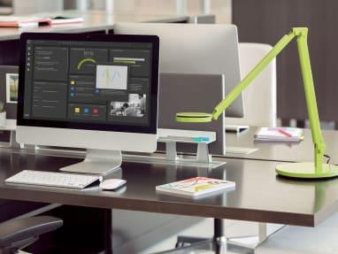 Dash LED Task Light on desk