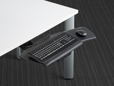 Slider Platform extended from underneath a desk