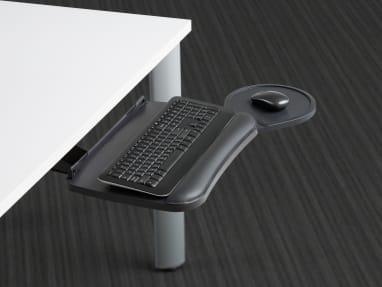 Jules Keyboard Platforms extended from under a desk