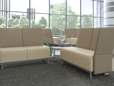 Neighbor lounge seating in a waiting room