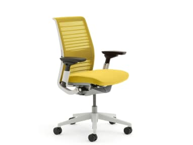 Think ergonomic office chair on a white background