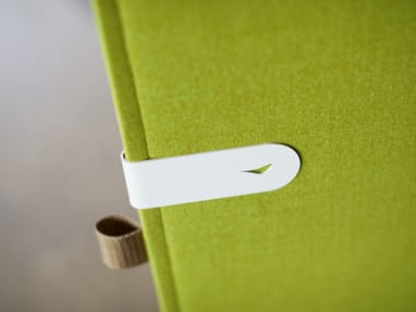 Green Clipper with white metal clip