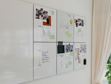 White and mood boards