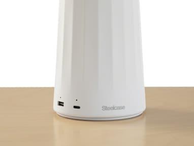 White Steelcase Flex Mobile Power