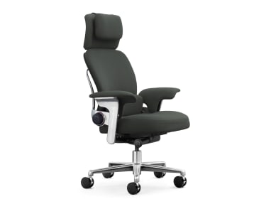 side view of the Leap WorkLounge chair with headrest