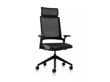 black kirn chair with headrest