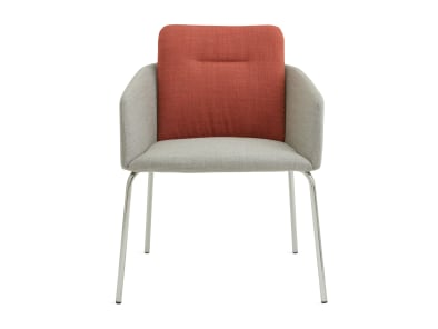 on white image of a grey and red marien152 chair