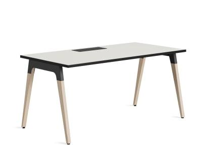 Lares desk on white background