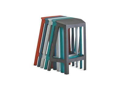 Stacked Steelcase Flex Perch stools on white background