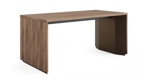 on white image of a dark brown Slim Leg desk