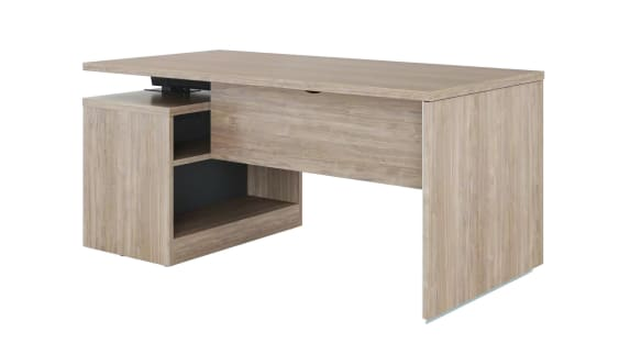 on white image of a Slim Leg desk with storage