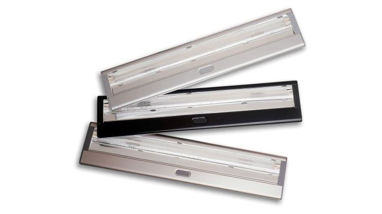 2 Silver Shelf Lights and 1 Black Shelf Lights