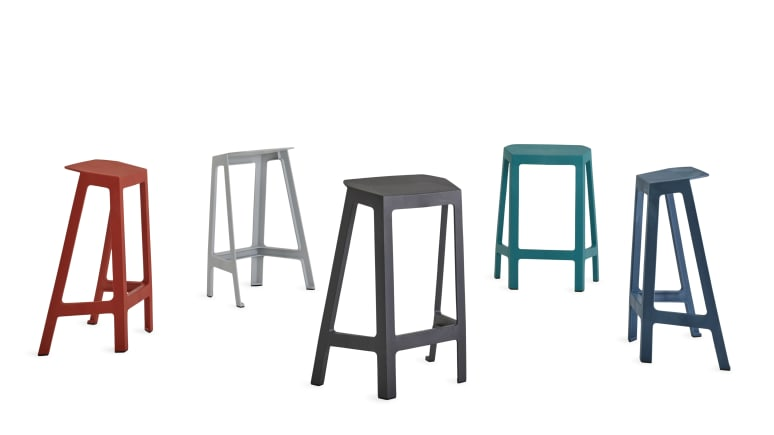 Steelcase Flex Perch Stool in different colors on white background