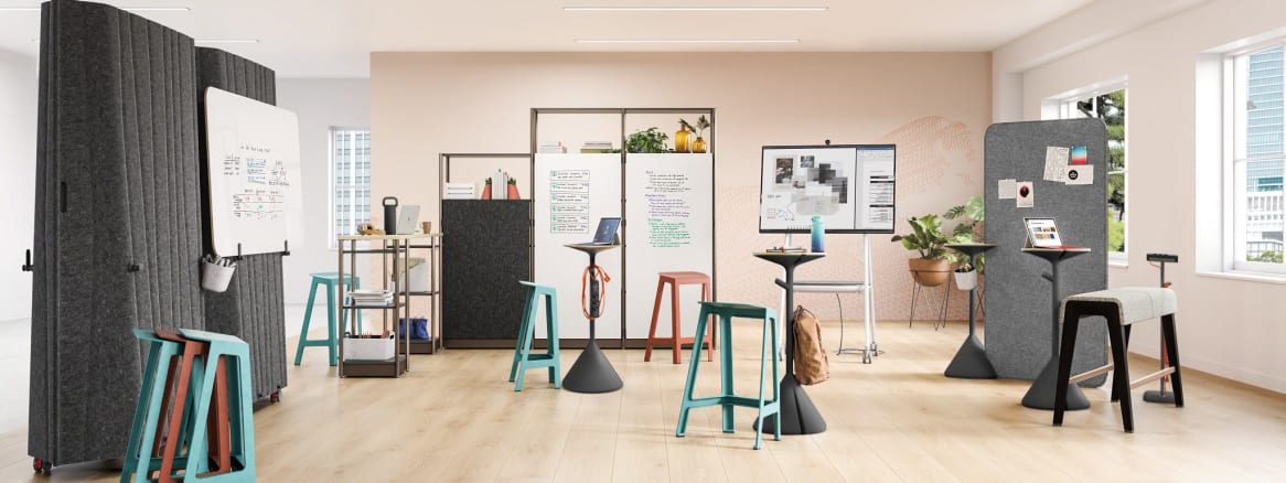 Steelcase Flex Perch Stool in Steelcase Flex Collection environment