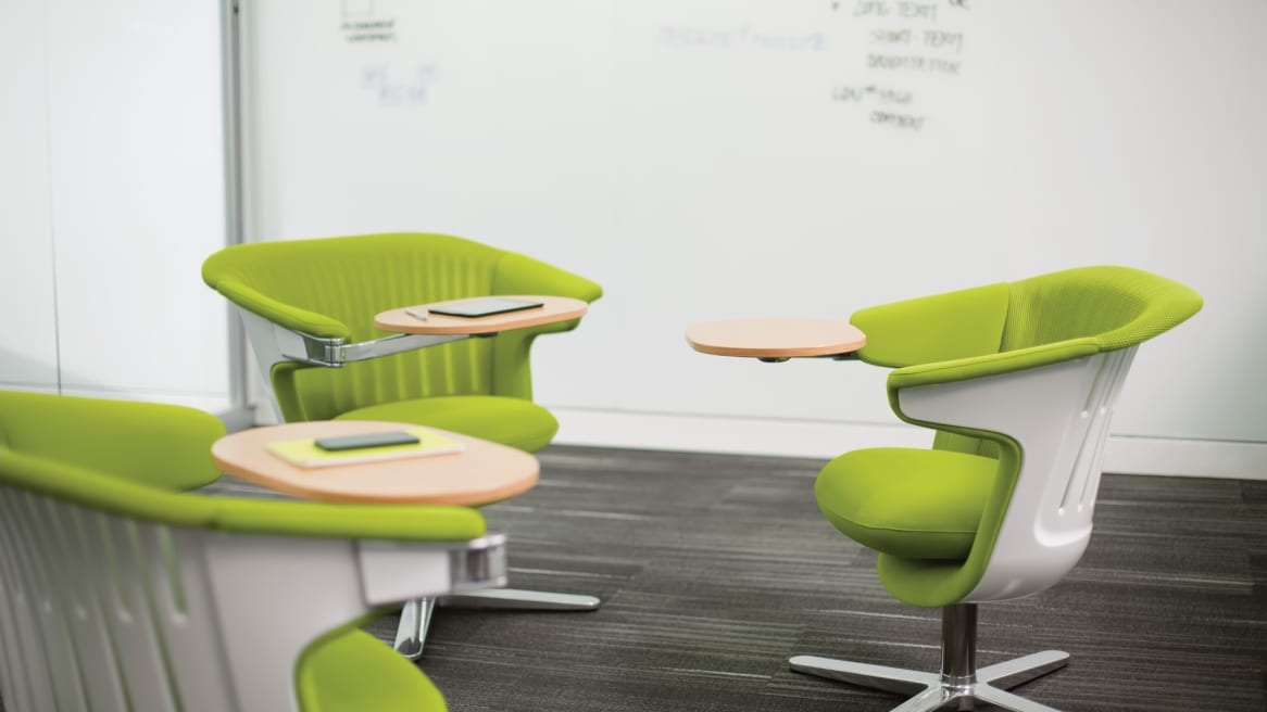 i2i collaborative chairs with small table attachment