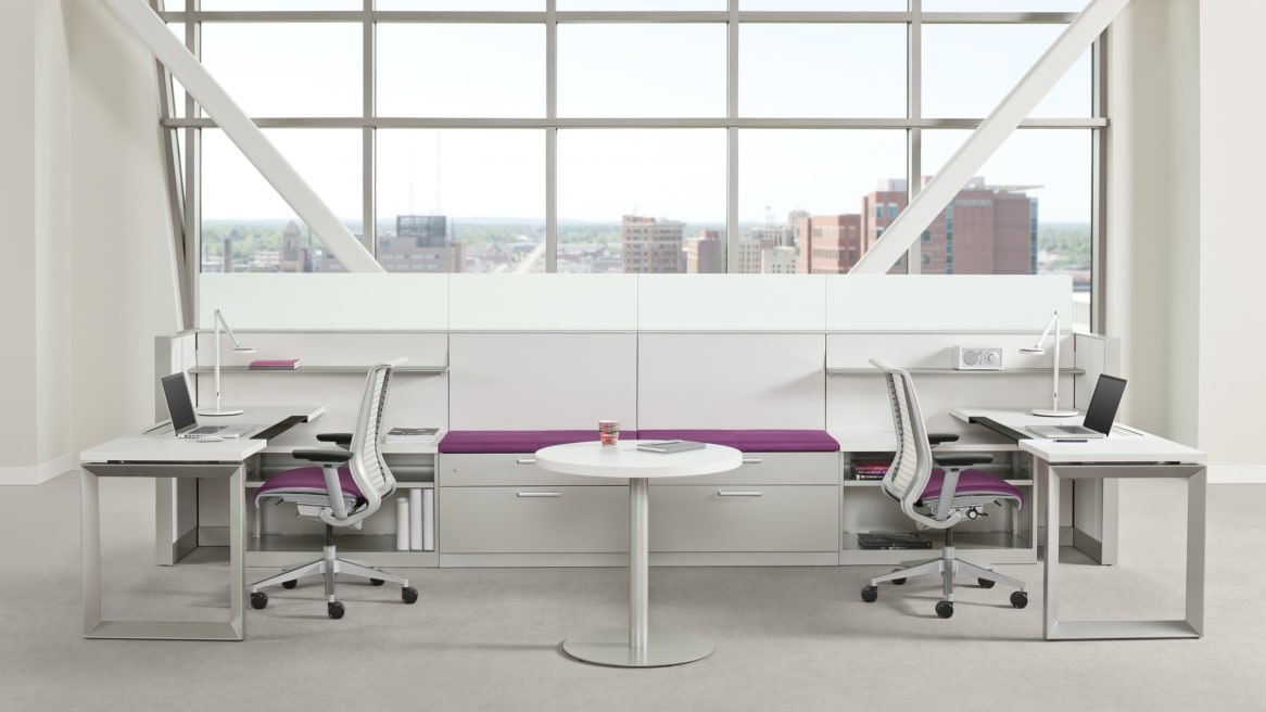 Universal Storage in between two desks