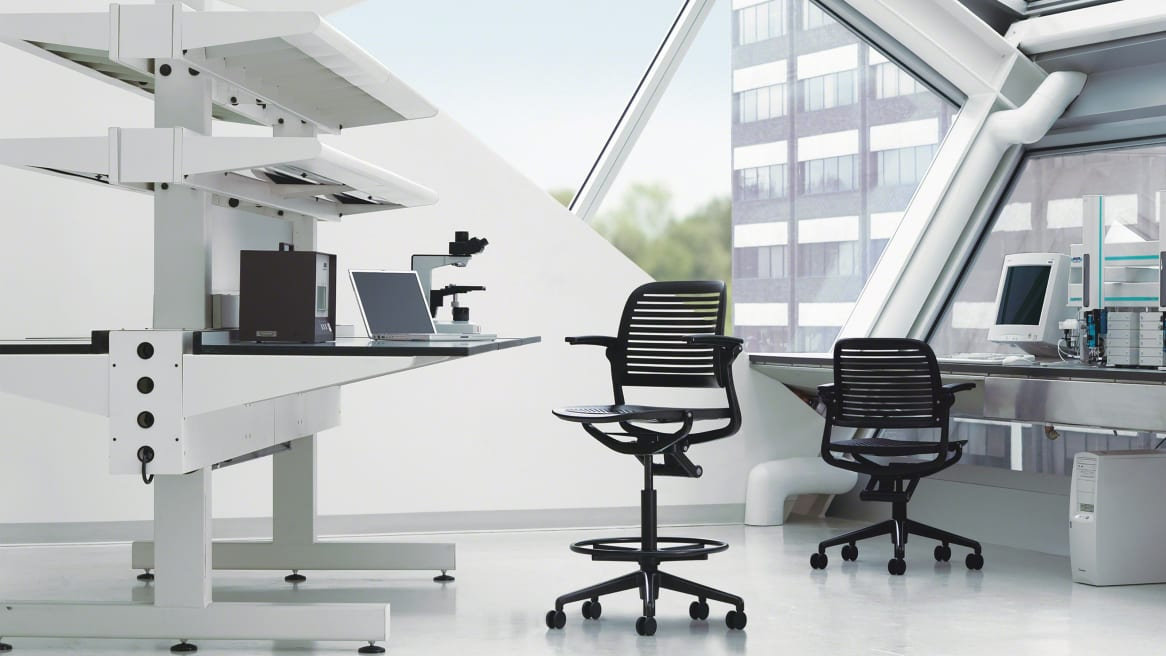 Cachet Stool with arms in office setting