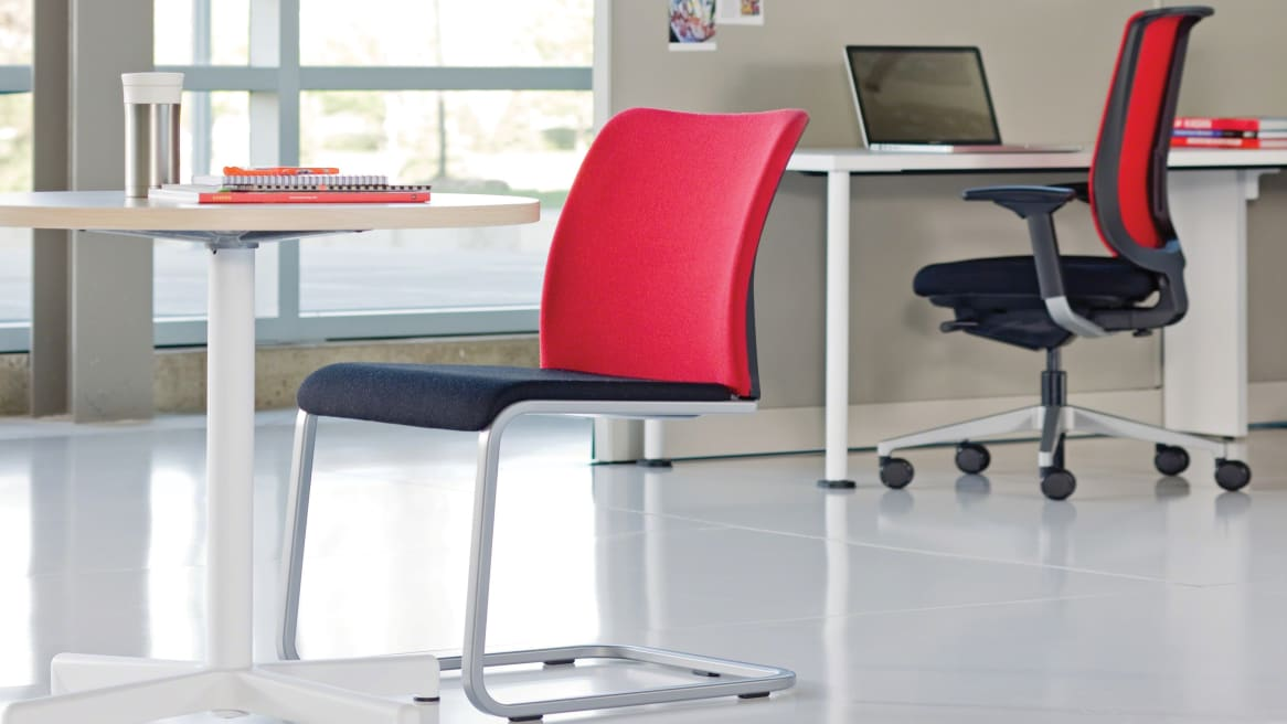 Reply Office chair with sled base