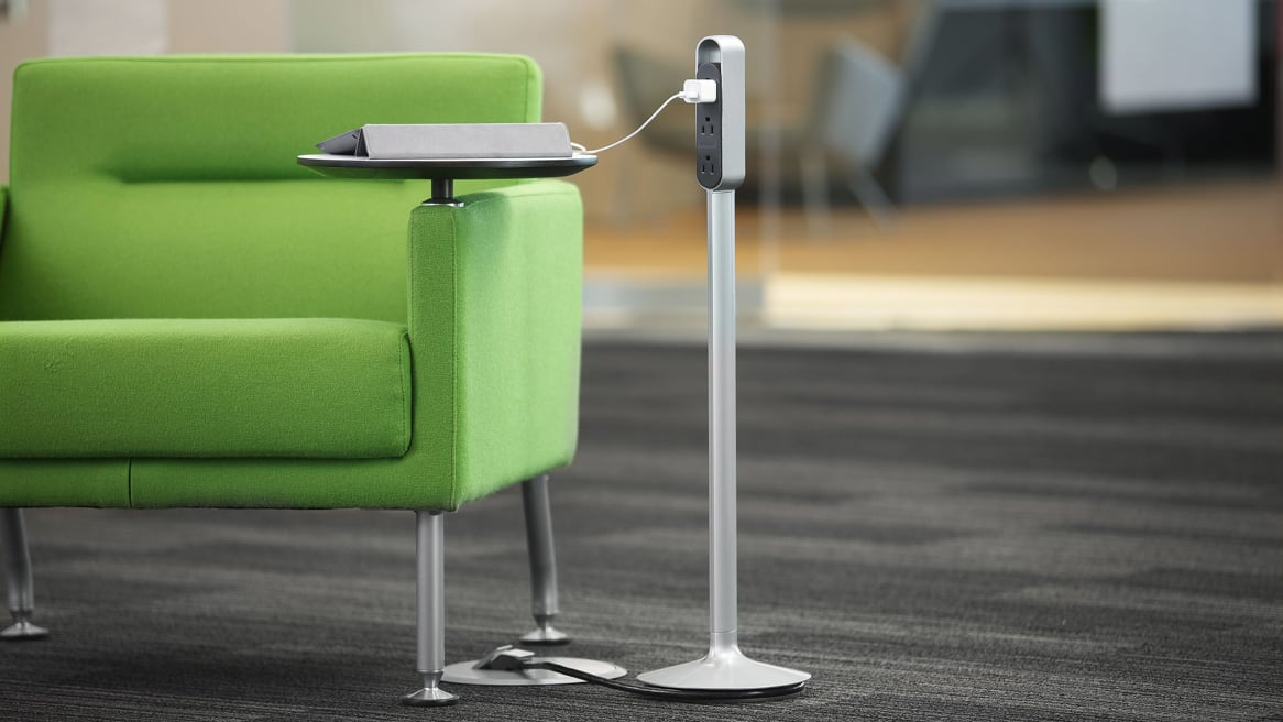 Thread Portable Power DIstribution next to a Passerelle Lounge Armchair