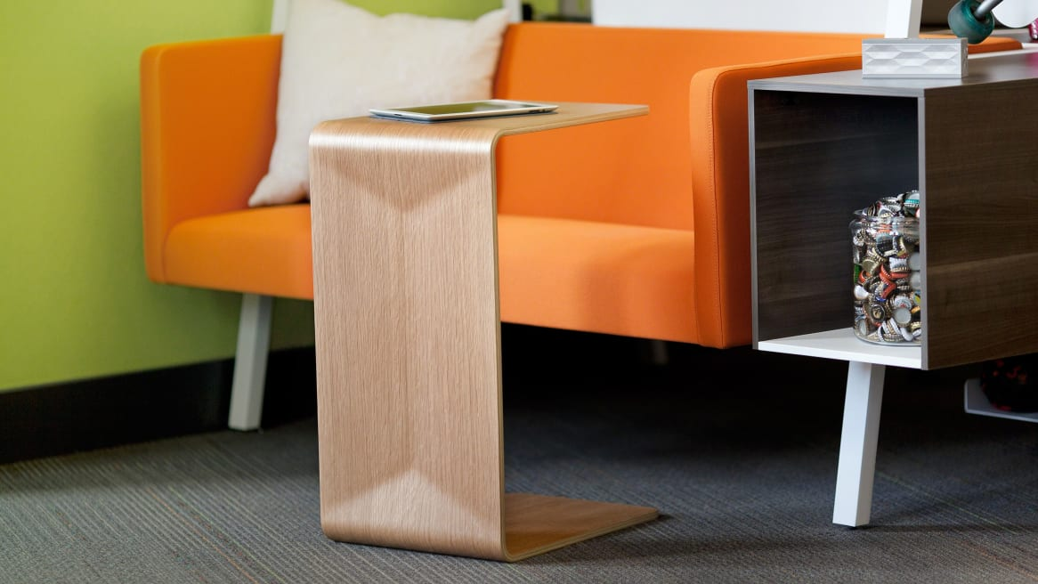 Campfire Personal Table in front of Bivi Chair and Endtable