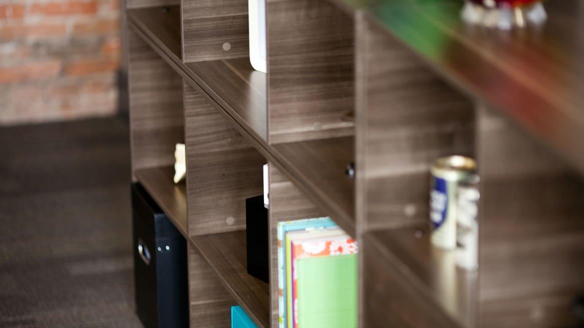Close-Up of Depot Storage Shelves