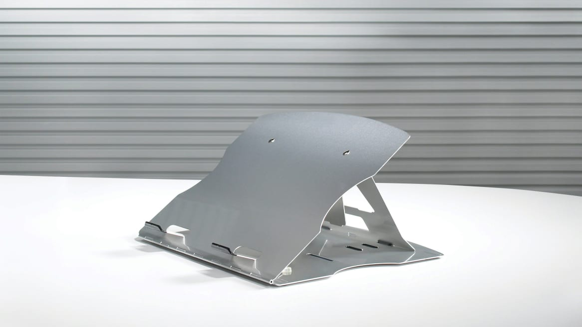 Mobile Laptop Support on a white table