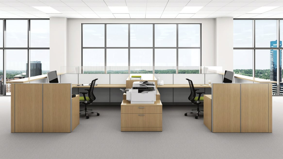 Two workstations with Montage Panel System