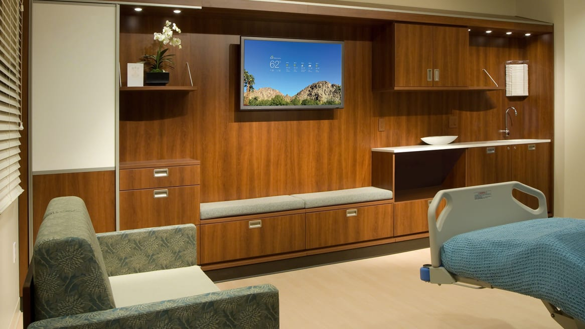 Opus modular casegoods in a medical recovery room