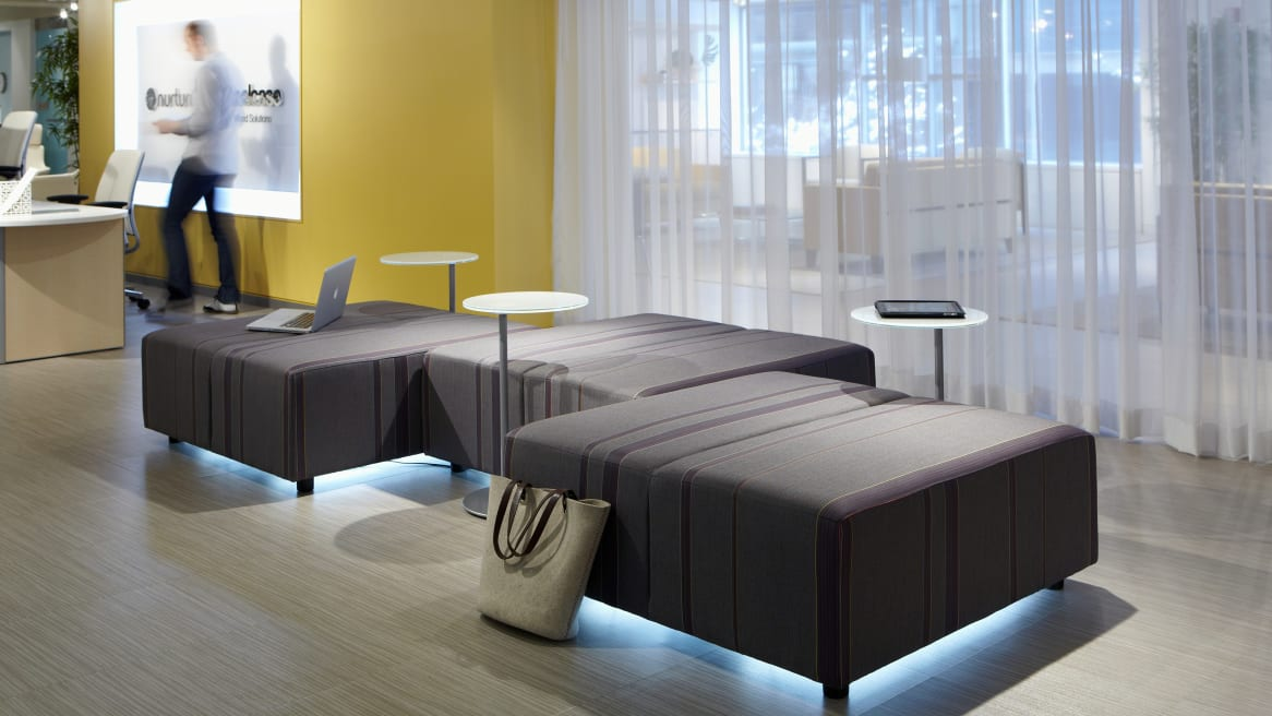 Await lounges and tables by Coalesse