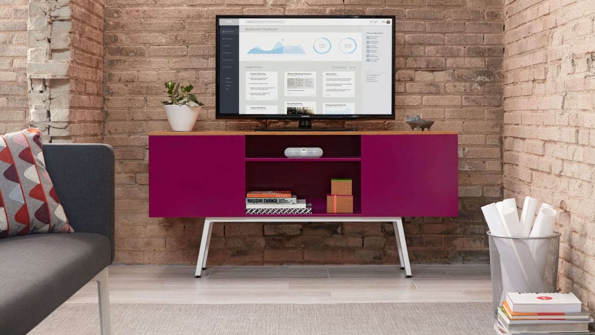 Pink Bivi Trunk with a large TV Screen