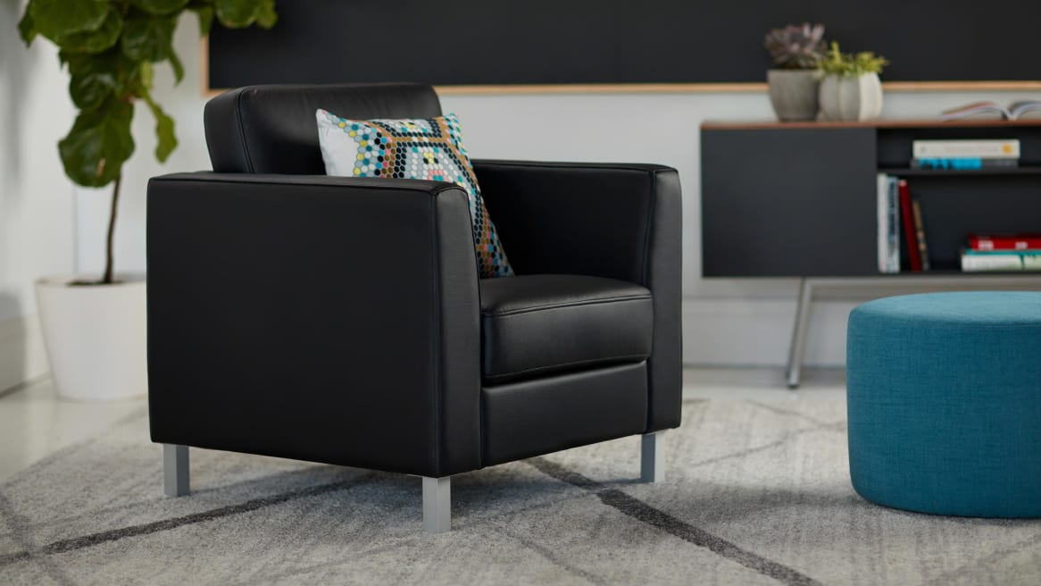 Image of a Lincoln chair in a lounge space.