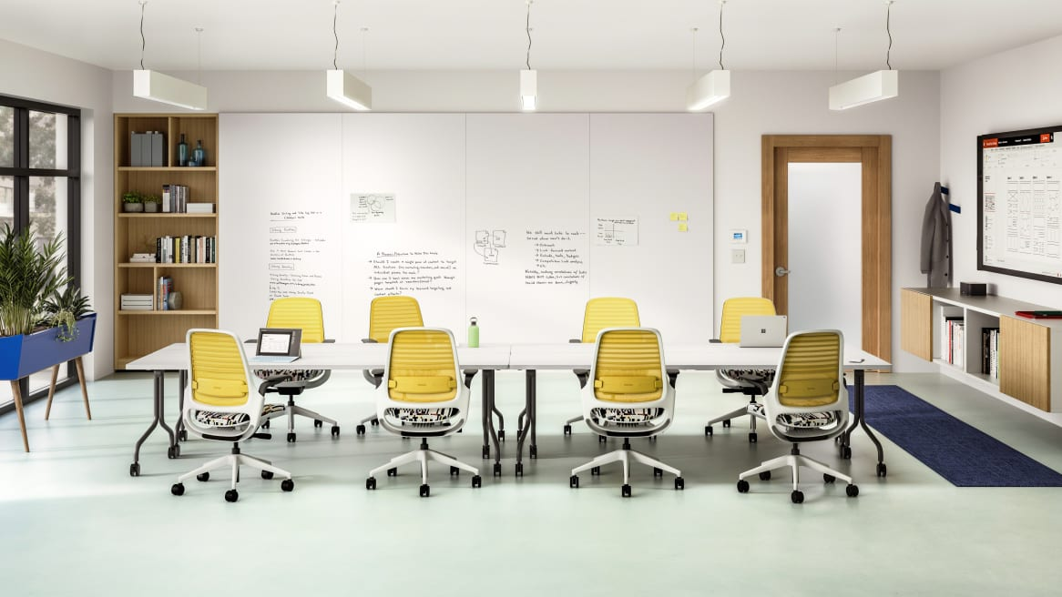 Group work Multi-purpose, flip-top table with tube legs (retrofit bar