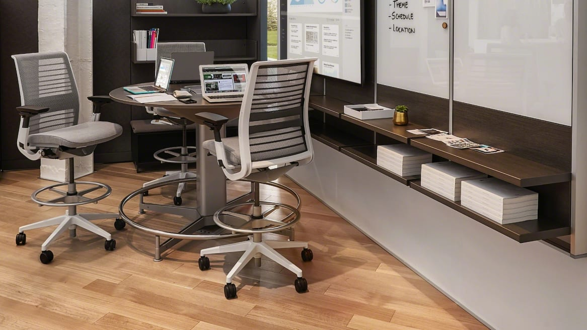 Meeting room with two Think stools