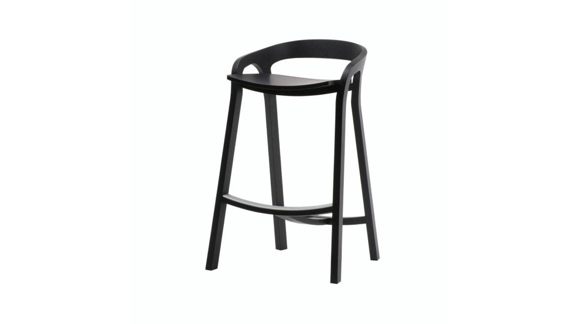 She Said Counter Stool in black