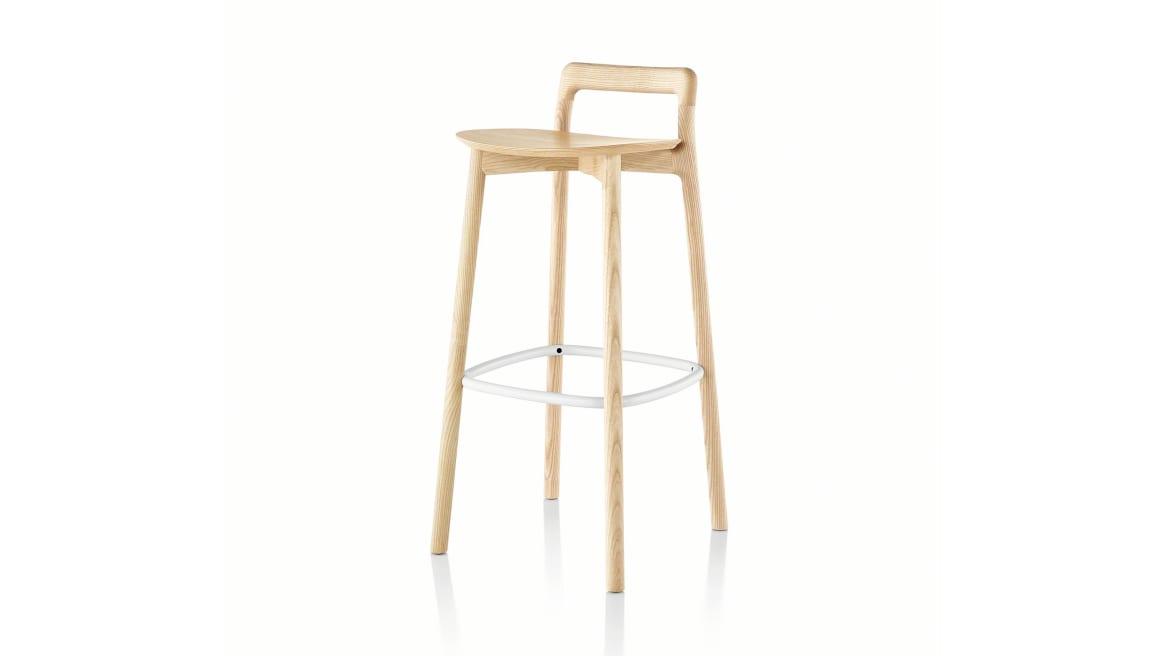 Branca bar stool in natural ash wood